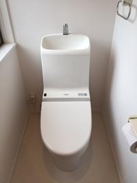 トイレの水受の輪ジミ除去 - スタッフブログ