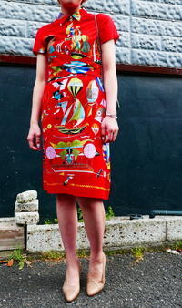 HERMES cotton dress - carboots
