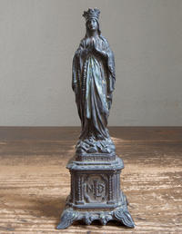 ルルド 聖母マリア像 17.2cm   / F252 - Glicinia 古道具店