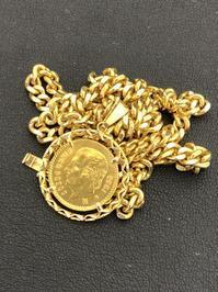 金のコインペンダントのネックレスをお買取しました!!買取専門店 和(なごみ)です! - 買取専門店 和 店舗ブログ