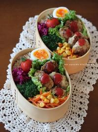 新玉たっぷりハンバーグ弁当(๑¯﹃¯๑)♪ - **  mana's Kitchen **