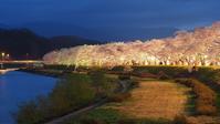 満開!桧内川堤の桜はマジックアワーに豪華華麗♪・・・2018東北一人旅シリーズ(その2) - 『私のデジタル写真眼』