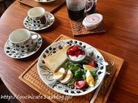 【朝ごぱん】いつも通りの朝ごぱんにサラダ多め、サラダにぴったりのおすすめ作りおき - 10年後も好きな家