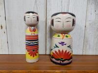 来客者のこけし'18② - こけしと手織りの小部屋
