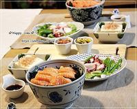 今夜はサーモン丼と犬好きにて♪ - ☆Happy time☆