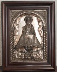 コバドンガの聖母と幼子イエス 金属レリーフ  / F121 - Glicinia 古道具店