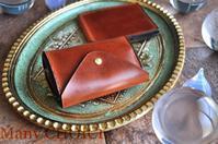 イタリアンヴィンテージバケッタレザー・コインキャッチャー財布とマネークリップ・時を刻む革小物 - 時を刻む革小物 Many CHOICE~ 使い手と共に生きるタンニン鞣しの革