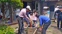 メイストーム去り、カッちゃん邸の餅つき会無事開催5・3 - 北鎌倉湧水ネットワーク