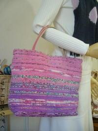 裂き織りBAG、あじろ織り(生徒さん作品) - アトリエひなぎく 手織り日記