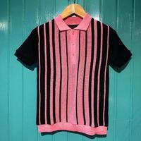 "706 union  ""Stripe knit Polo"" - ★ GOODY GOODY ★  -  ROCK'N ROLL SHOP"