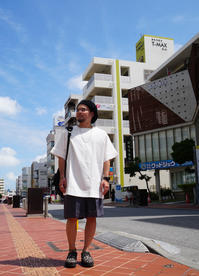 STYLE / Big T-sh × Wide Short pt - 'One World   /God bless you