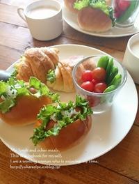 5.6ホットドッグとクロワッサンサンドのモーニング - YUKA'sレシピ♪