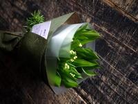 5/1の「ミュゲ(スズラン)の日」に、スズランの花束。2018/04/30。 - 札幌 花屋 meLL flowers