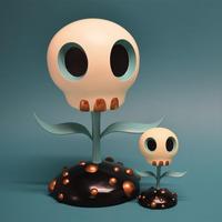 Skull Flower by Tara McPherson - 下呂温泉 留之助商店 入荷新着情報