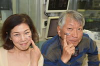 カツオすきやきほっぺたシールを貼った黒笹さんがRKCラジオに生出演。城博コラボ、かつお祭をPR - カツオ県民会議ブログ!!!