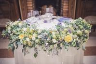 新郎新婦様からのメール 秋の装花 リストランテASOの花嫁様より - 一会 ウエディングの花