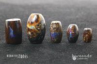 ボルダーオパール 天珠型 ビーズ(オーストラリア産) - すぐる石放題