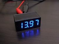 BHレガシィデジタル電圧計を 3桁 → 4桁 に - 青いそらの下で・・・