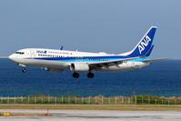 ANA RWY18へのアプローチ - 南の島の飛行機日記