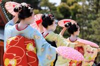 平安神宮例祭翌日祭 奉納舞踊・花笠(祇園甲部 豆純さん、豆こまさん、朋子さん) - 花景色-K.W.C. PhotoBlog