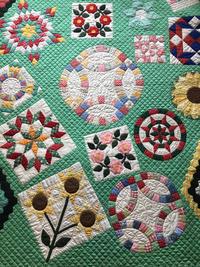 憧れのサンプラーキルト - piecing・針仕事と庭仕事の日々