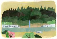 イラスト 木曽路はすべて山の中 - 手製本クリエイター&切絵コラージュ作家 yukai の暮らしを愉しむヒント