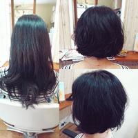 バッサリカット&パーマ - 松江市美容室 hair atelier bonet(ヘアアトリエボネット)