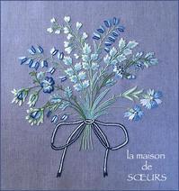 花束の刺繍完成しました。 - la maison de SŒURS