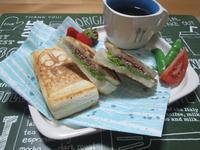朝食に♪ シュレッドビーフのホットサンド - candy&sarry&・・・2