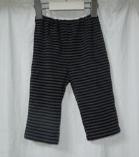 358.黒グレーストライプのレギンス - フリルの子供服