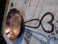 銅シンプルハート - 金属造形工房のお仕事