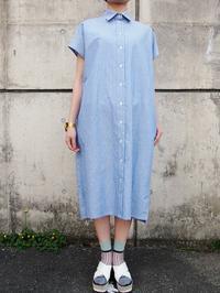 名前のないブランド(TOMOUMI ONO) ストライプシャツワンピース - suifu