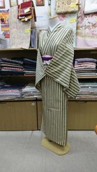 縞柄の単衣銘仙 レトロ調コーデ - たんす屋新小岩店ブログ