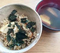 大量の筍から②たけのこの炊き子でおにぎり&ごはん・吸い物@行正り香「はじめての、和食BOOK」、出かけたくなるね♪ - Isao Watanabeの'Spice of Life'.
