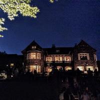 旧古河庭園のライトアップ。暗いのにすごい人出。バラは疲れていました。 - 設計事務所 arkilab