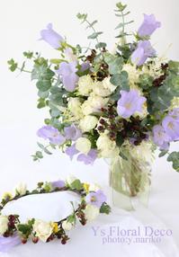 ラフ感のあるクラッチブーケ&花冠 - Ys Floral Deco Blog