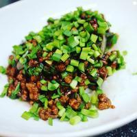 ニラと豚ミンチとピータン、豆豉のピリ辛炒め、台湾風、作ってみた - キムチ屋修行の道