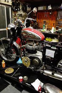 1968BSA A65 ケーブル周り・配線作業 - Vintage motorcycle study