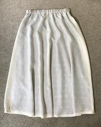 シルクのミディー丈のスカート出来上がりました - アトリエ A.Y. 洋裁教室