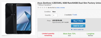 日本でも値下げされたZenFone4(SDM660,6GBモデル)が3.5万円で輸入可能に - 白ロム転売法