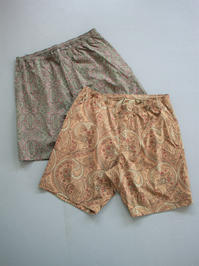 NEEDLES Warm Up Short - Poly Taffeta Paisley Print - 『Bumpkins putting on airs』