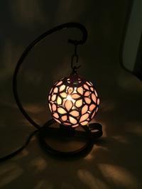 小さな桜ランプ - Glass in