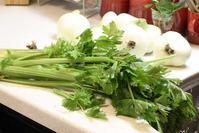 新たまねぎとセロリのオーブン煮 - 登志子のキッチン