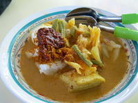 初めて食べたLontong@D'Authentic Nasi Lemak/Marine Parade Food Center - Essen★Makan★何食べる?