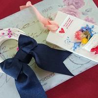 リボンとお花でアロマフレグランスストーン - エリーズ ローズの部屋