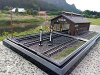 Nジオラマ、木造機関庫のある風景 - e-stationショップブログ