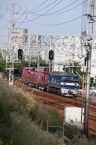 藤田八束の鉄道写真@西宮市内で撮影した貨物列車の写真・・・街中でも撮れる貨物列車の写真、芦屋とさくら夙川駅間 - 藤田八束の日記