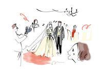 CLASSY. WEDDING ウエディングの悩み - 女性誌、web、広告 |美しい女性と花と食のイラストレーション|まゆみん