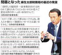 財務!副総理…… アッ!そうなんですネェ〜 - SPORTS 憲法  政治