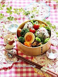 5色の花むすび弁当と今夜はそうめん♪ - ☆Happy time☆
